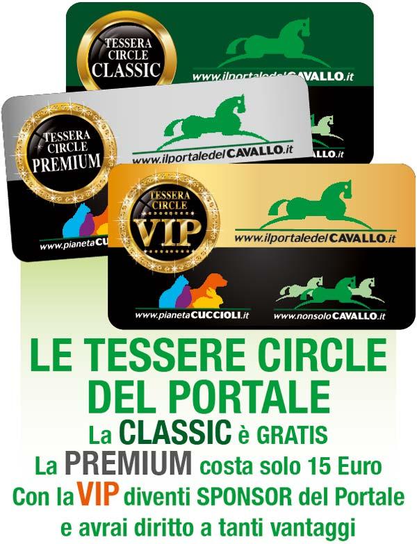 Tessere Circle del Portale: Classice, Premium, VIP