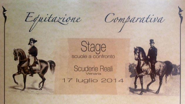 Al Centro Internazionale del Cavallo, presso le Scuderia della Mandria, il secondo stage di Equitazione Comparativa.